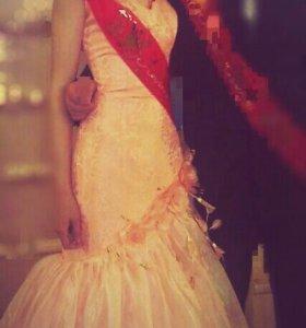 Выпускное вечернее платье корсет