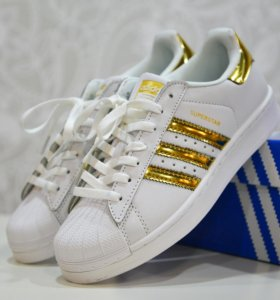 Кроссовки Adidas Superstar gold, 37-39