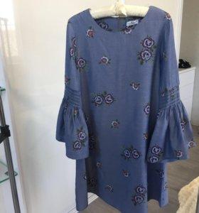 Платье в цветочек ( новое )