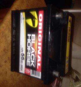 Аккумулятор black horse 55a новый