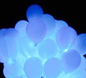 Гелиевые светящиеся шары на свадьбу