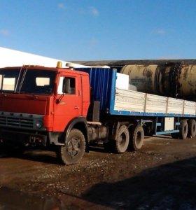 КАМАЗ 5410 седельный тягач с полуприцепом МАЗ