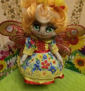 "Интерьерная кукла ""Альфина"",размер 23см."