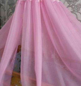 Балдахин розовый с креплением