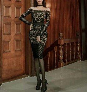 Новое кружевное платье S, M