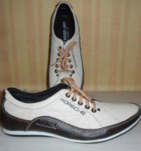 Мужские туфли, натуральная кожа, новые, р.42