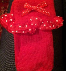 Новые носочки на новорожденного