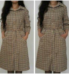 Платье-рубашка(50-52)