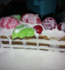 Мыло ручной работы кусочек торта