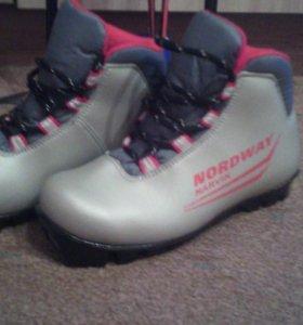 Лыжные ботинки 35р-р