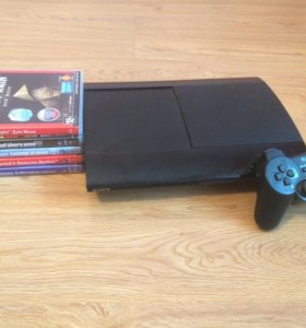 PlayStation 3 slim 500g + 5 игр