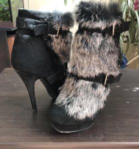 Ботильоны зима ботинки обмен