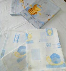 Постельное белье в кроватку 2 комплекта