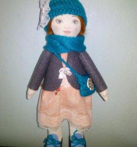 Текстильная Куколка-малышка ручной работы.