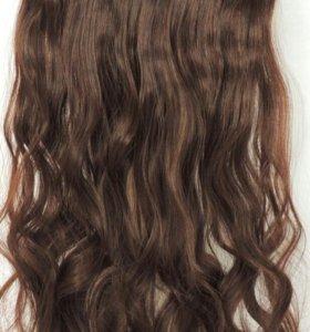 Вьющиеся накладные пряди (волосы на заколках)