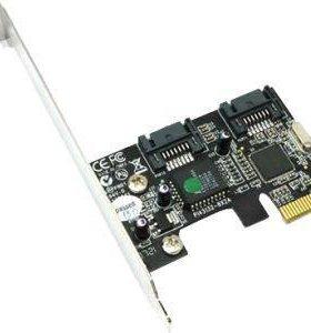 Контроллер ST-LAB, PCI-E X1, A-410, 2 IN (sata300)