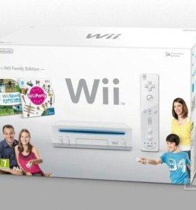Игровая приставка Nintendo Wii motion plus + игры