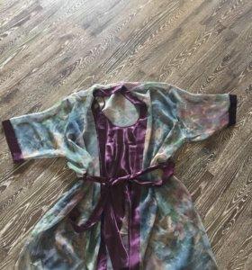 Комплект домашний: халат и сорочка