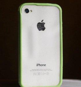 Бампер на iphone 4/4s разные цвета