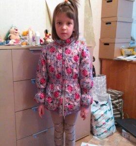 Куртка демисезонная на 4-5-6 лет