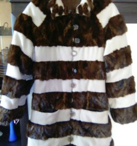 Шуба-пальто(норка-кашемир)