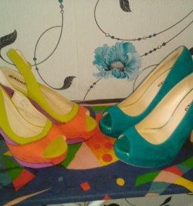 Туфли слева
