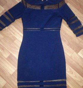 Темно синее платье Р 46
