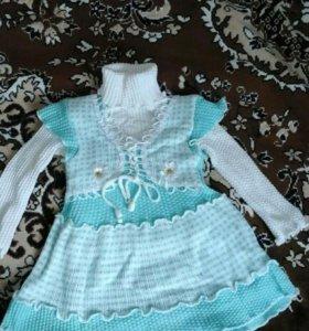 Вязанные платье