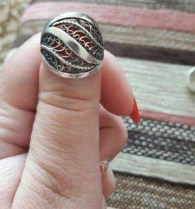 Кольцо серебро 17,5-18р