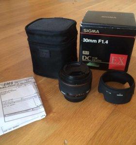 Sigma AF 30mm f/1.4 EX DC HSM for Nikon