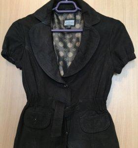 Рубашка- пиджак из натуральной замши