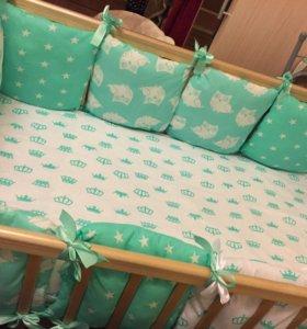 Бортики детское постельное бельё