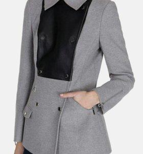 Karen Millen двубортное пальто из молескина