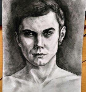 Портреты углем