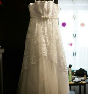 Свадебное платье,размер 46