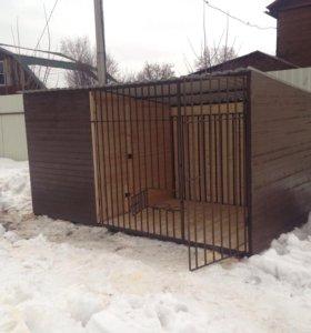 Вольер для собаки с зимником