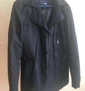 Новая ветровка плащ куртка синяя мужская