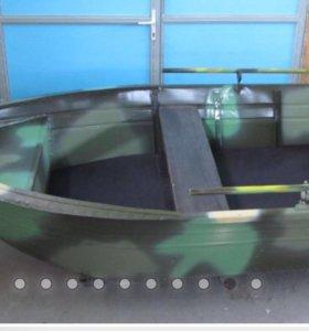 Лодка алюминиевая Охотник 320 и мотор Tohatsu 3,5