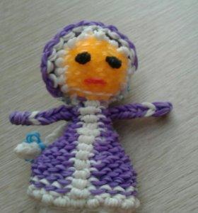 Резиновая игрушка снегурочка