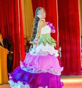 Платье из креп бумаги