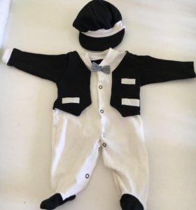 Праздничный костюм на мальчика (комбезик)