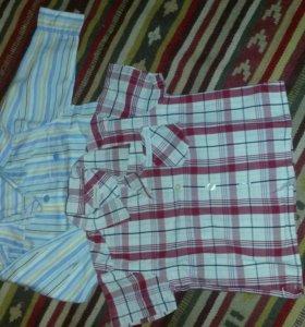 4 рубашки 9-12м