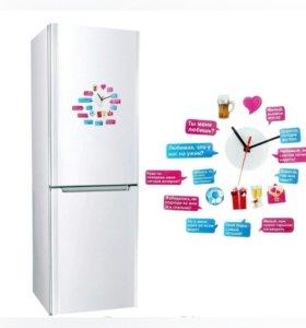 Магнит часы на холодильник