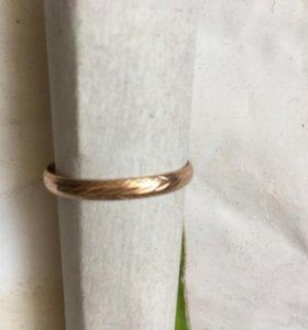 Кольцо обручальное золото 585 размер 21,7