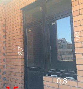 Новая дверь с окном( можно без окна)