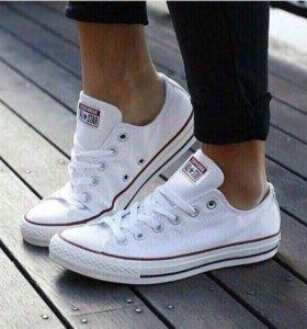 Новые Кеды Converse белые женские
