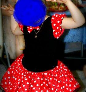 Костюм Минни Маус(платье+ободок