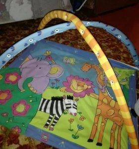 Развивающий коврик для детей с музыкой