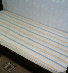 Кровать ( полуторка) , б/у  в хорошем состоянии с