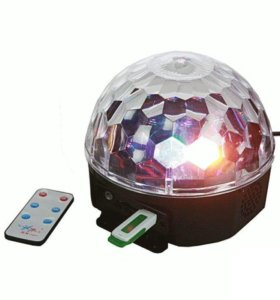 Большой Музыкальный диско шар с USB. Пульт ДУ.